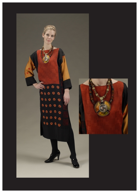 some of the handmade fashion by Ann Keister to be featured at the October 2014 meeting