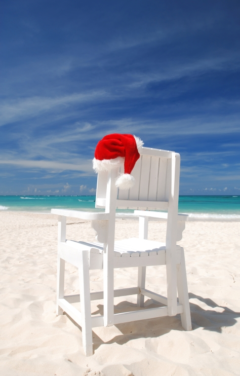 Santa.Hat.Beach.Chair